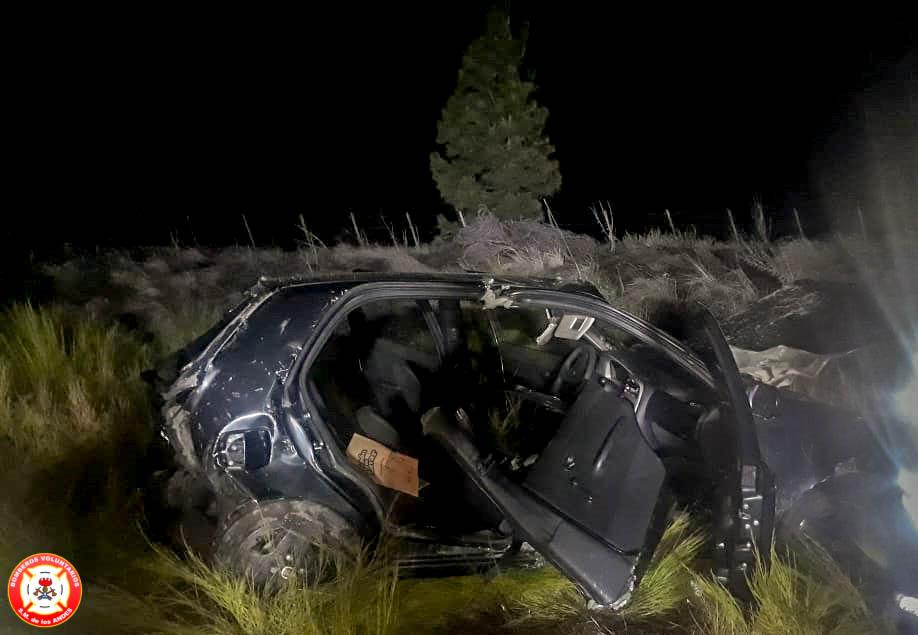Doble accidente en la madrugada: Un equino muerto