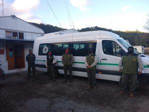 Siete brigadistas del PNL viajaron a Jujuy a combatir incendios forestales