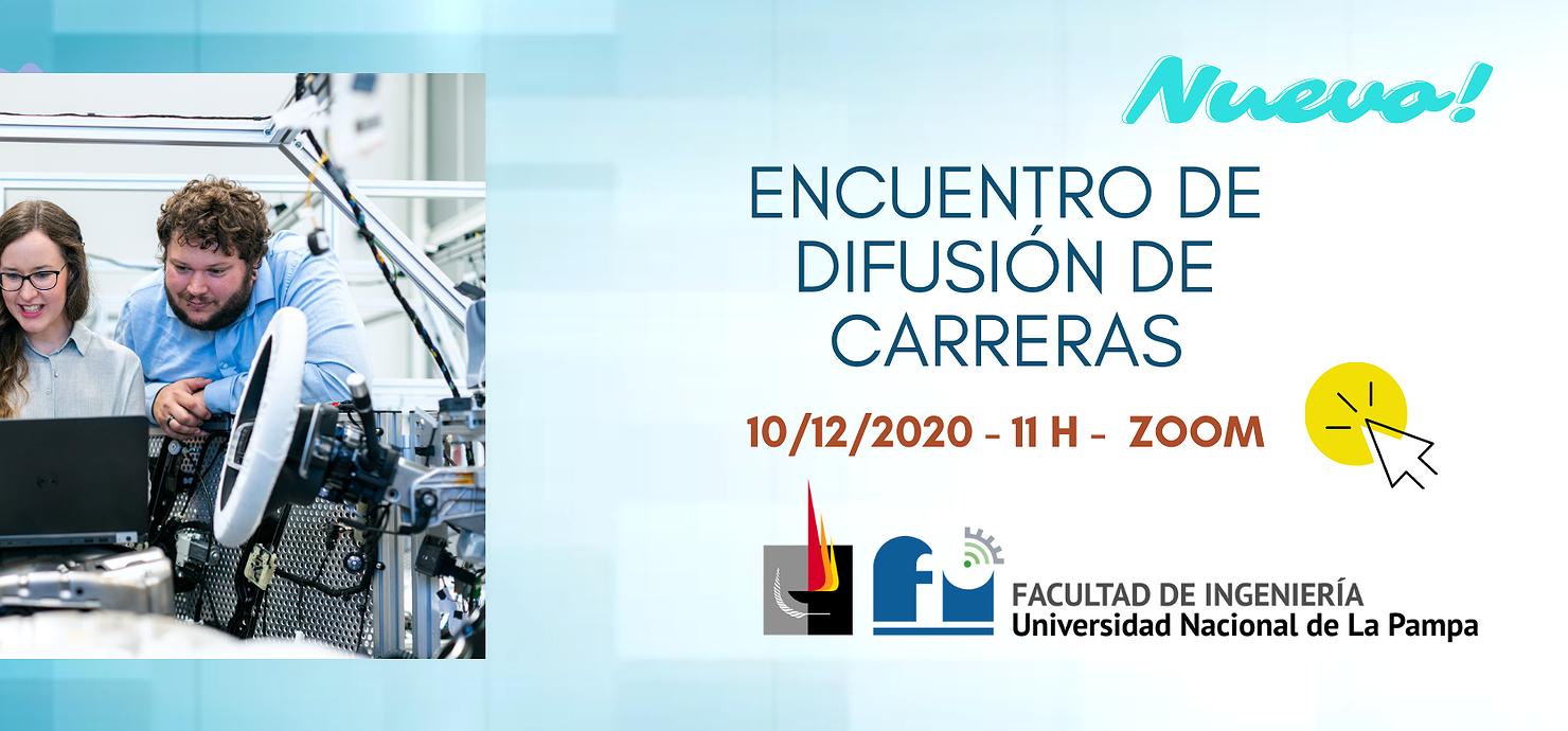 La Facultad de Ingeniería de La Pampa presenta sus carreras mediante jornadas virtuales