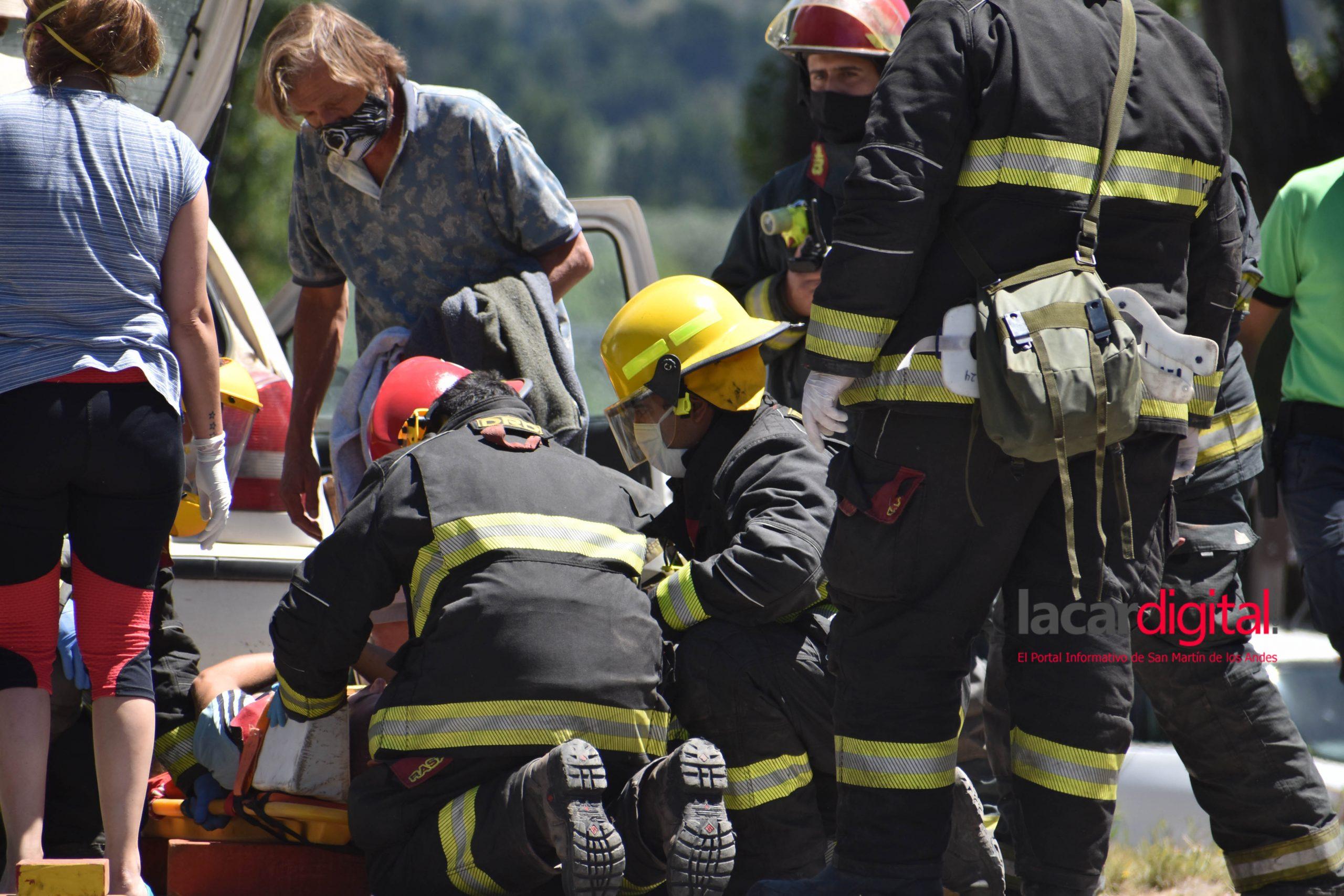 Accidente por alcance sobre Ruta 40 y Callejón de Bello
