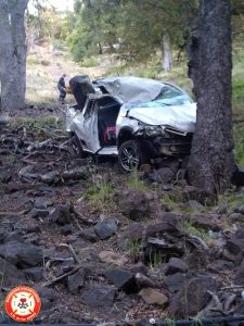 Accidente camino a Quila Quina