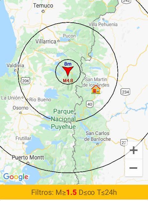 Un sismo con epicentro en Chile alcanzó nuestra ciudad
