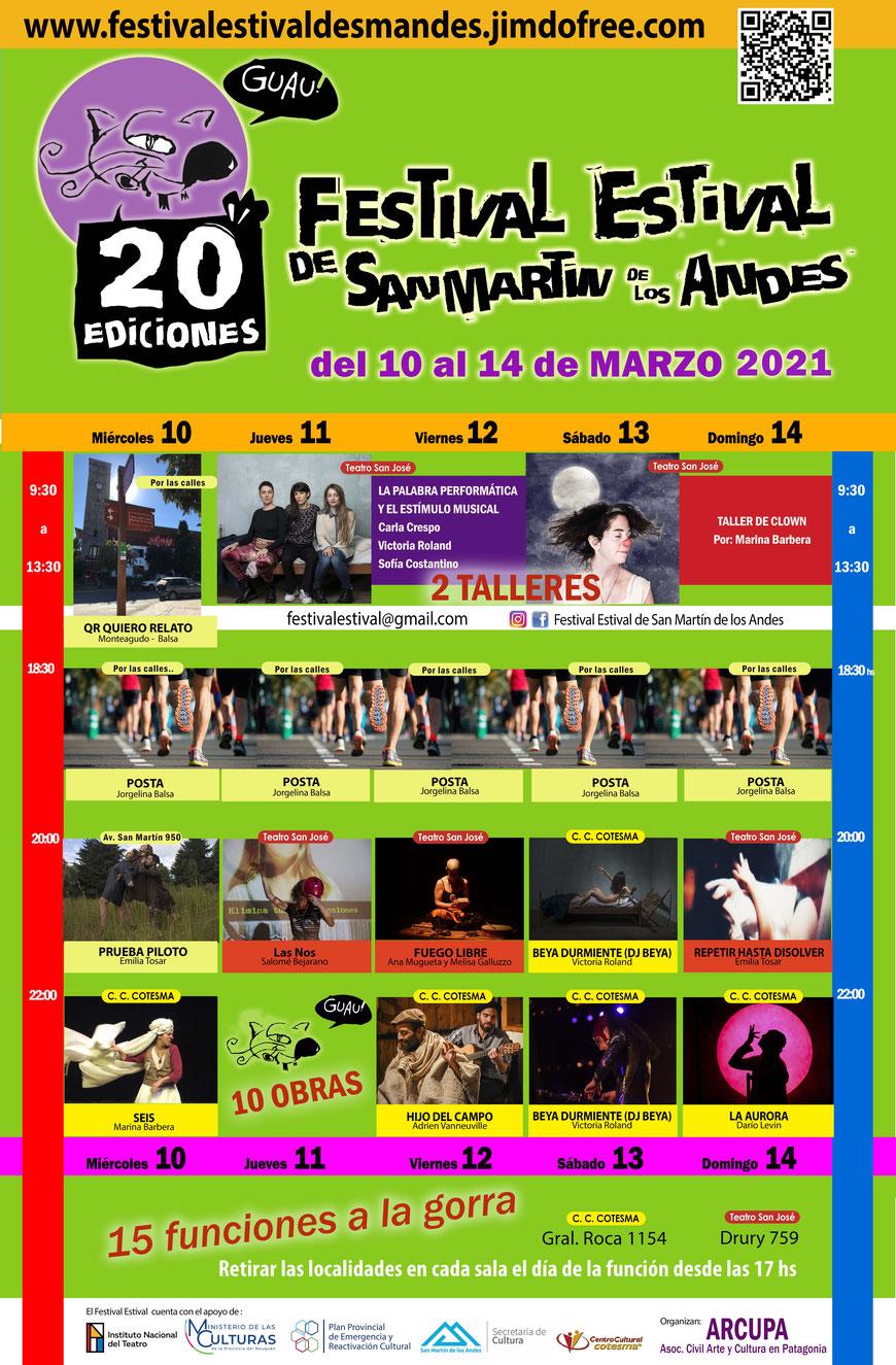 San Martín de los Andes palpita el 20º Festival Estival de Teatro