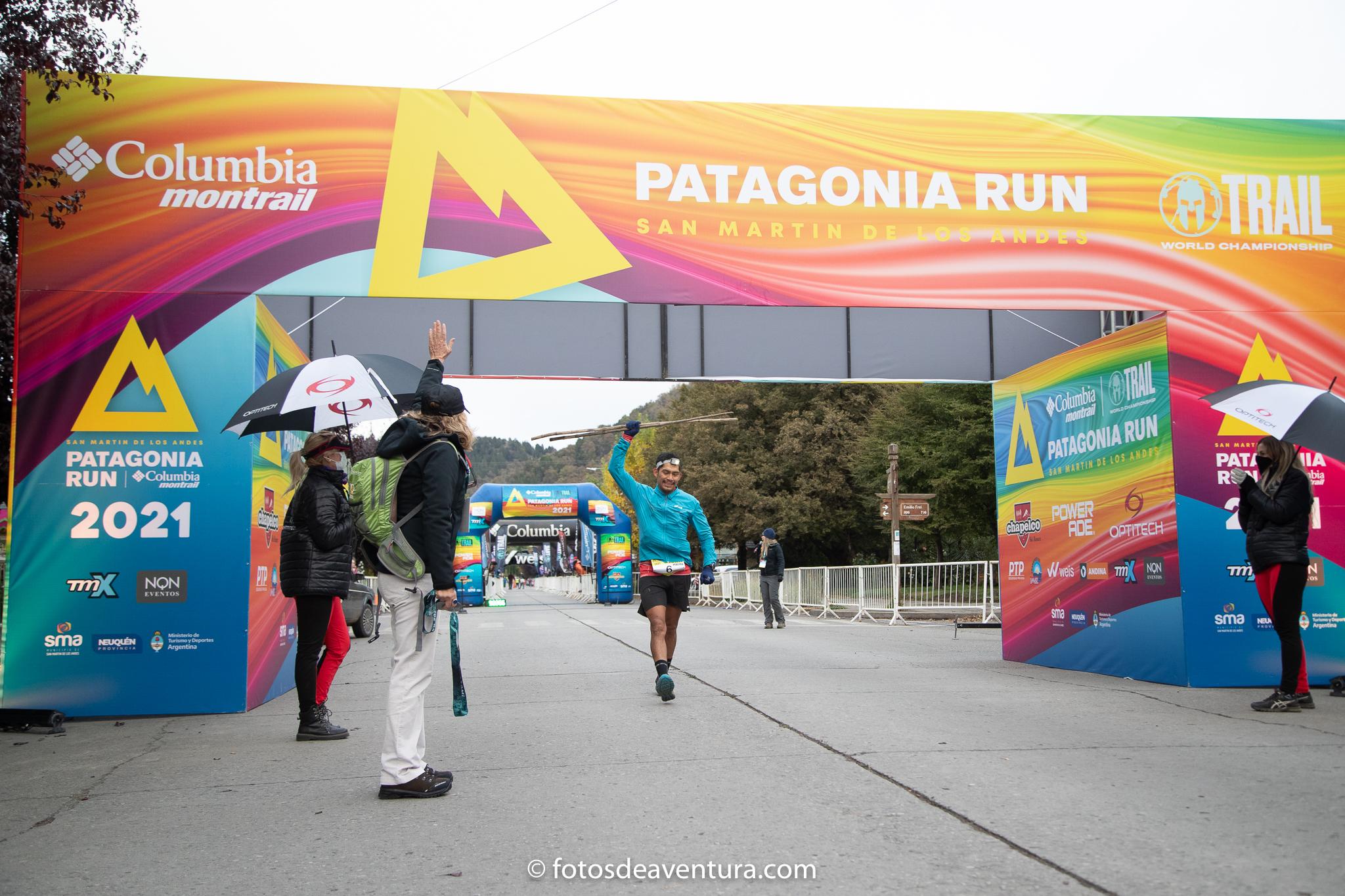 Sergio Pereyra ganador de la edición 2021 Patagonia Run Columbia Montrail